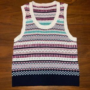 NWOT Texture Eyelash Lurex Fairisle Sweater Vest